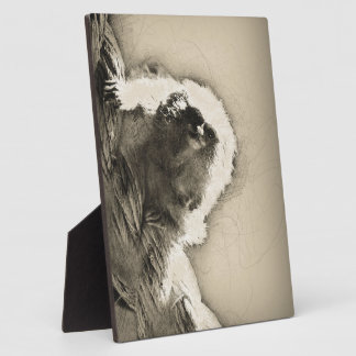 Marmoset Fine Art Sketch of Tiny Monkey Plaque