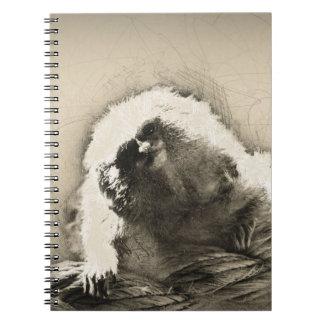 Marmoset Fine Art Sketch of Tiny Monkey Spiral Notebook