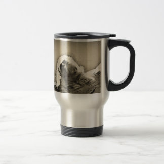 Marmoset Fine Art Sketch of Tiny Monkey Travel Mug