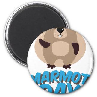Marmot Day - Appreciation Day 2 Inch Round Magnet