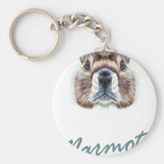 Marmot Day - Appreciation Day Basic Round Button Keychain