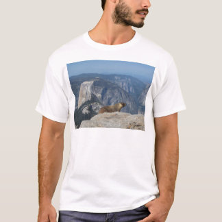 Marmot Overlooking Half Dome from Clouds Rest - Yo T-Shirt