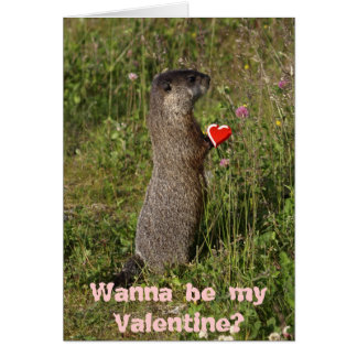 Marmot Valentine's Card