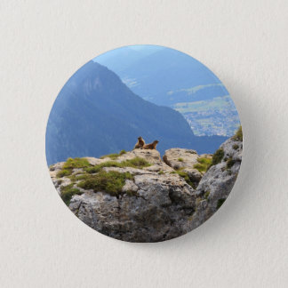 Marmots and Fassa Valley 2 Inch Round Button