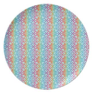 Maroccan rainbow plate