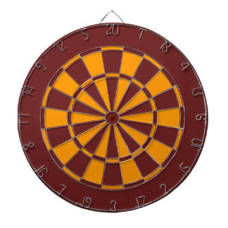 Maroon and Gold Dart Board