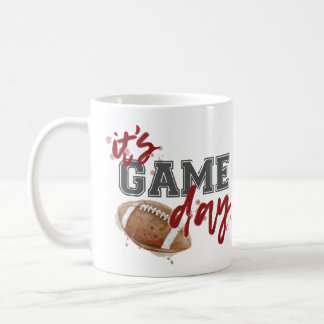 Maroon and Gray Game Day Mug