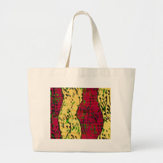 Maroon and ocher abstract art large tote bag