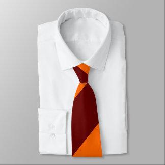 Maroon and Orange Broad Regimental Stripe Tie