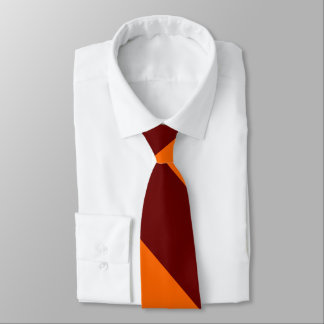 Maroon and Orange University Stripe Tie