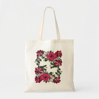 Maroon and Pink Ruffled Petunias Tote Bag