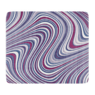 Maroon and Purple Abstract Curvy Shapes Boards
