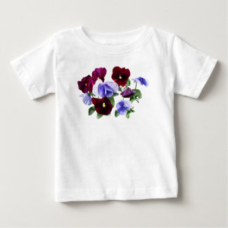 Maroon And Purple Pansies Baby T-Shirt