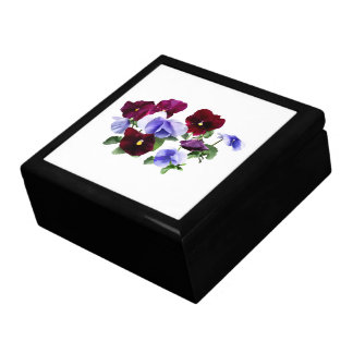 Maroon And Purple Pansies Gift Box