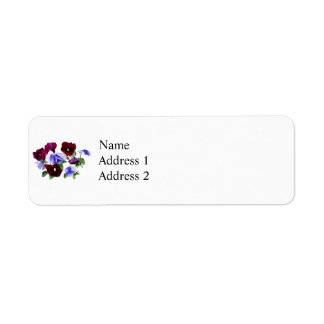 Maroon And Purple Pansies Return Address Label