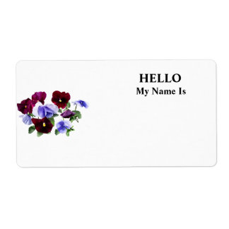 Maroon And Purple Pansies Shipping Label
