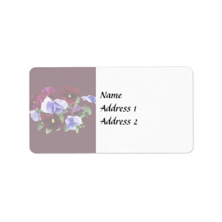 Maroon And Purple Pansies Wedding Products