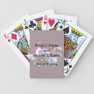 Maroon And Purple Pansies Wedding Products Bicycle Playing Cards