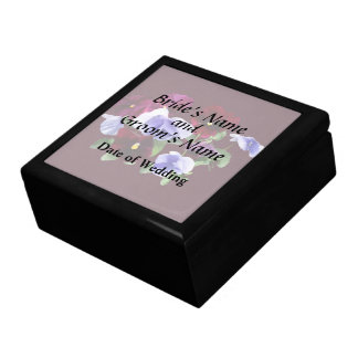 Maroon And Purple Pansies Wedding Products Gift Box
