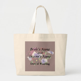 Maroon And Purple Pansies Wedding Products Large Tote Bag