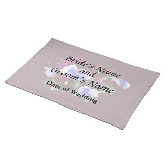 Maroon And Purple Pansies Wedding Products Placemat