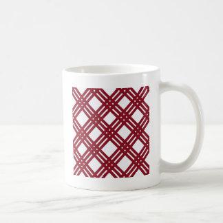 Maroon and White Gingham Coffee Mug