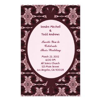 Maroon Art Deco Wedding Personalized Stationery