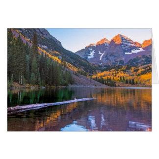 Maroon Bells Alpen Glow Card