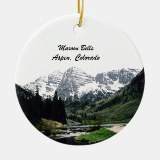 Maroon Bells, Aspen, Colorado Ceramic Ornament