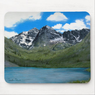 Maroon Bells Drawing Mousepad