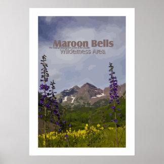 Maroon Bells Floral - poster