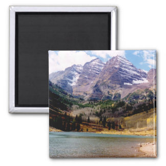 Maroon Bells in Autumn Square Magnet