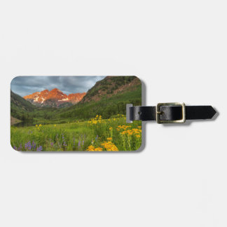 Maroon Bells Reflect Into Calm Maroon Lake Luggage Tag