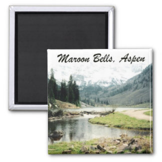 Maroon Bells Square Magnet