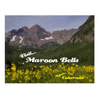 Maroon Bells Sunflowers - postcard