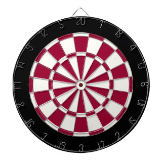 Maroon Black And White Dartboard