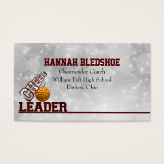 Maroon Cheerleader Business Card