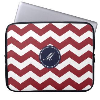Maroon Chevron Pattern Laptop Sleeve