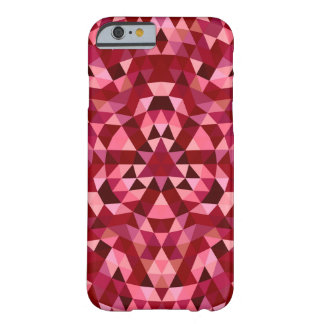 Maroon circular triangle pattern barely there iPhone 6 case