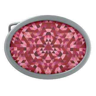 Maroon circular triangle pattern belt buckles