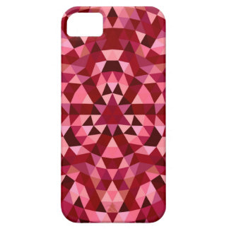 Maroon circular triangle pattern case for the iPhone 5