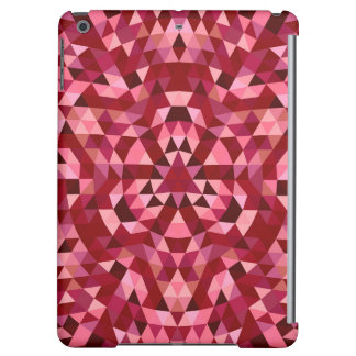 Maroon circular triangle pattern cover for iPad air