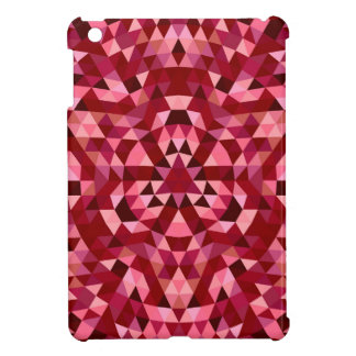 Maroon circular triangle pattern iPad mini case