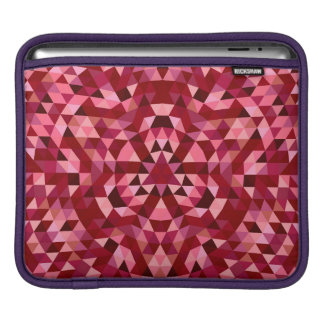 Maroon circular triangle pattern iPad sleeve