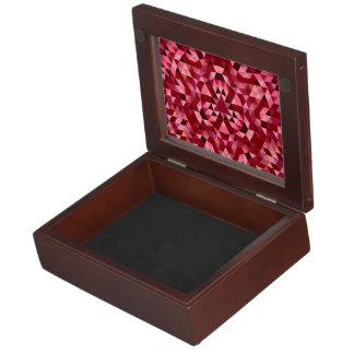 Maroon circular triangle pattern keepsake boxes