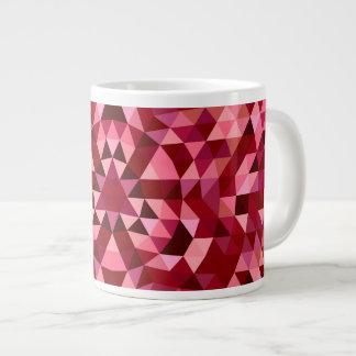 Maroon circular triangle pattern large coffee mug