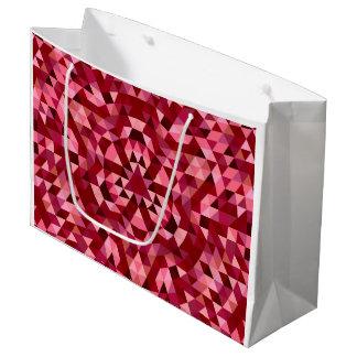 Maroon circular triangle pattern large gift bag