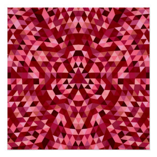 Maroon circular triangle pattern perfect poster