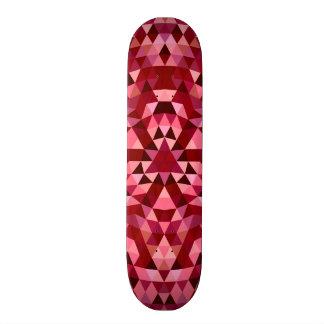 Maroon circular triangle pattern skate decks