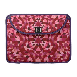 Maroon circular triangle pattern sleeve for MacBooks